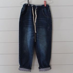 Loose fit distressed jeans